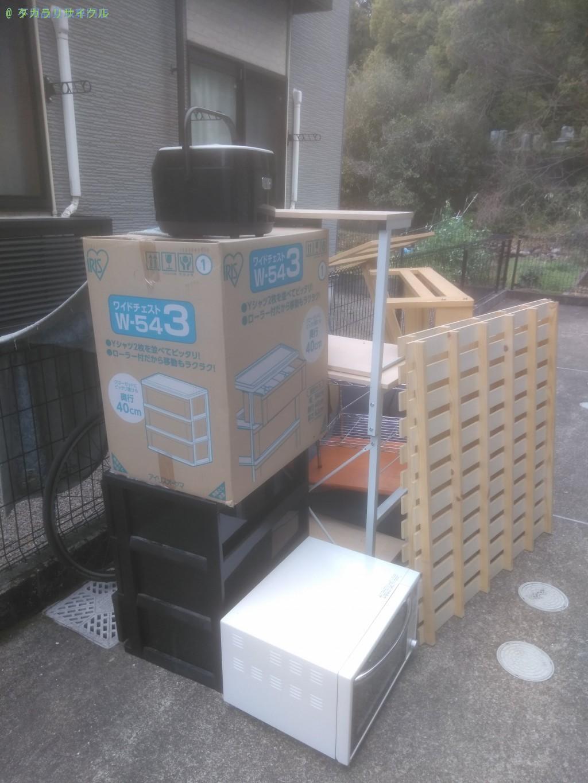【香美市土佐山田町】炊飯器ほか家具家電の処分・回収のご依頼者さま