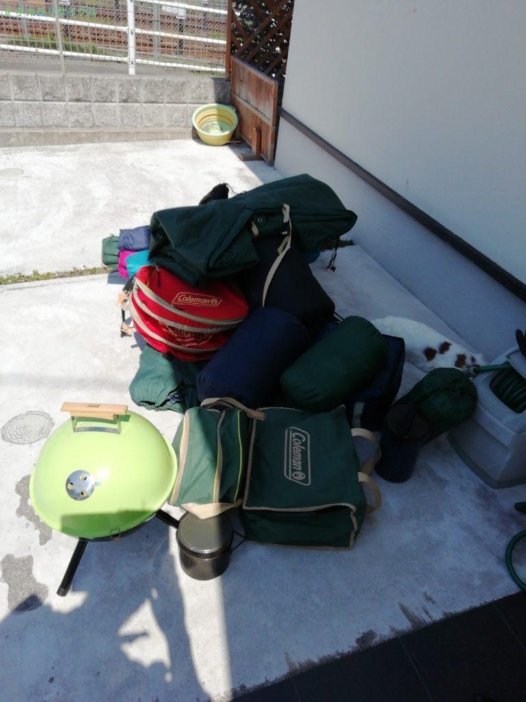 【生駒市山崎町】キャンプグッズの処分・回収のご依頼者さま