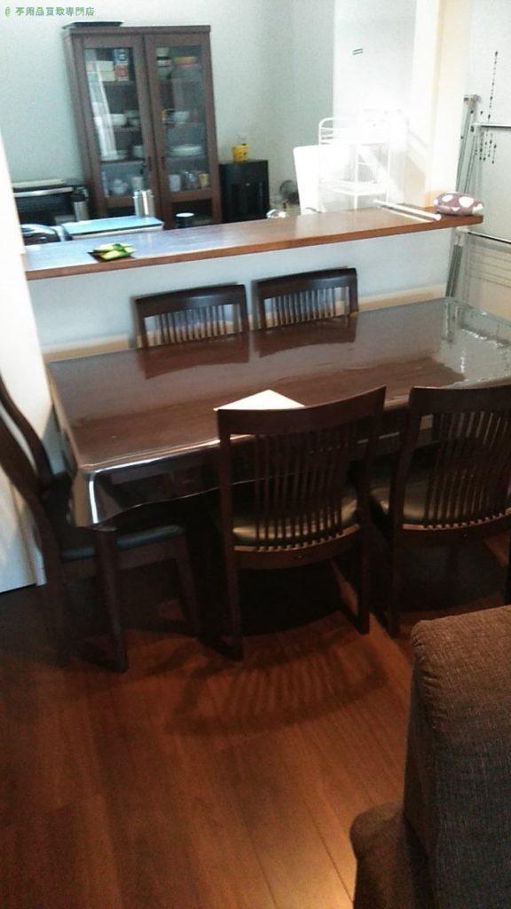 【今治市拝志】ダイニングテーブルセット・不用雑貨の買取・回収をご依頼のお客様