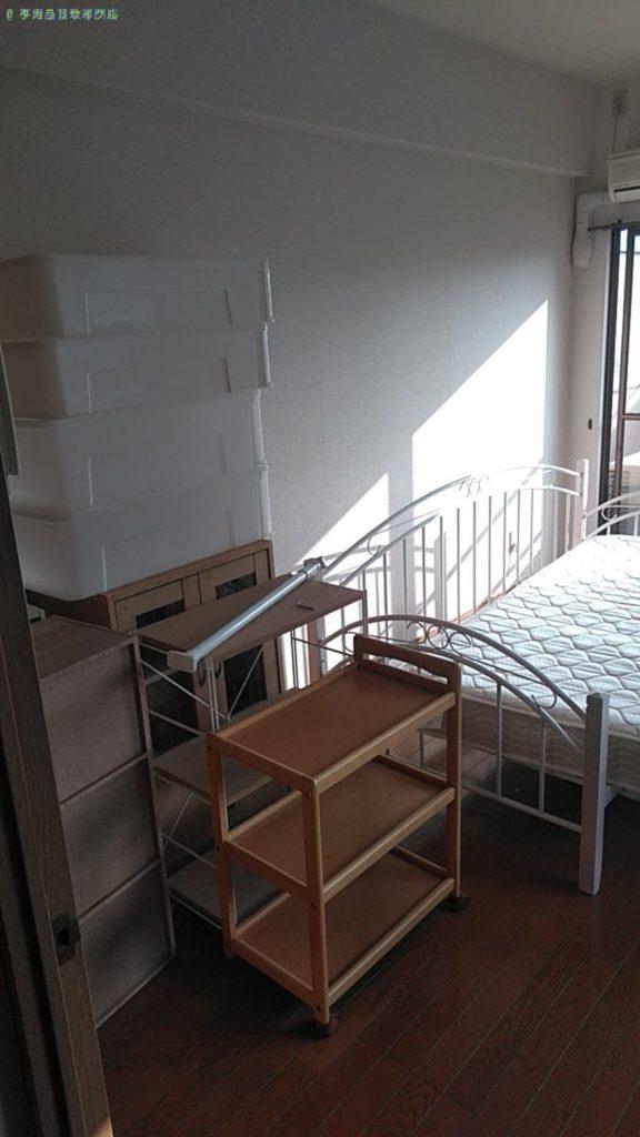【松山市清水町】ベッド・戸棚・収納ケースの買取・回収をご依頼のお客様