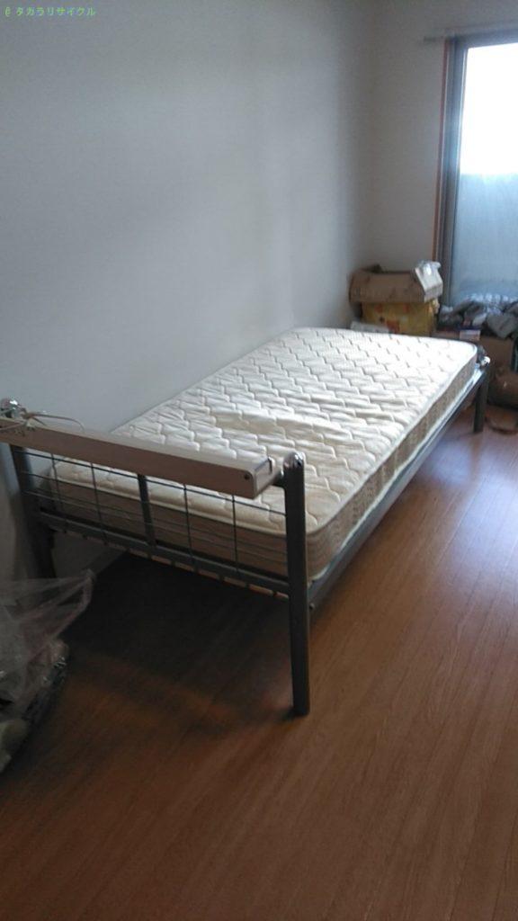 【松山市道後今市】ベッドフレーム・マットレスの回収のご依頼者さま