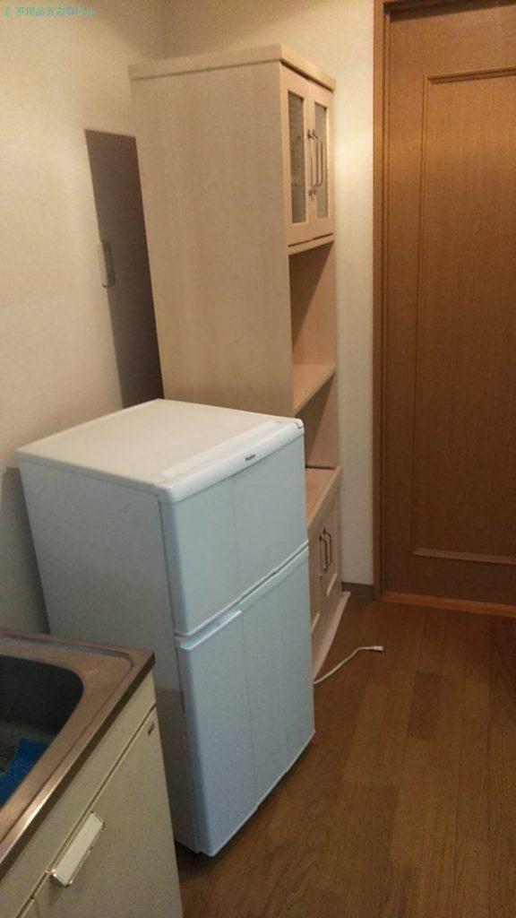 【東温市南方】冷蔵庫・食器棚の処分・回収のご依頼者さま