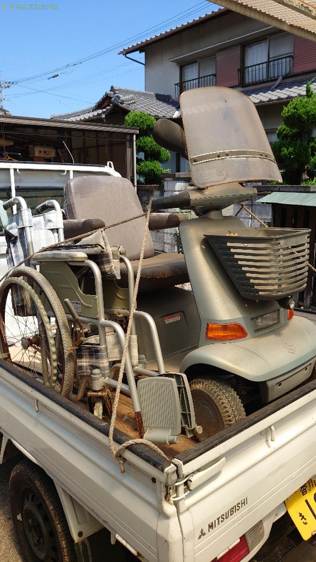 【高松市多肥上町】シニアカー・車イスの処分・回収のご依頼者さま