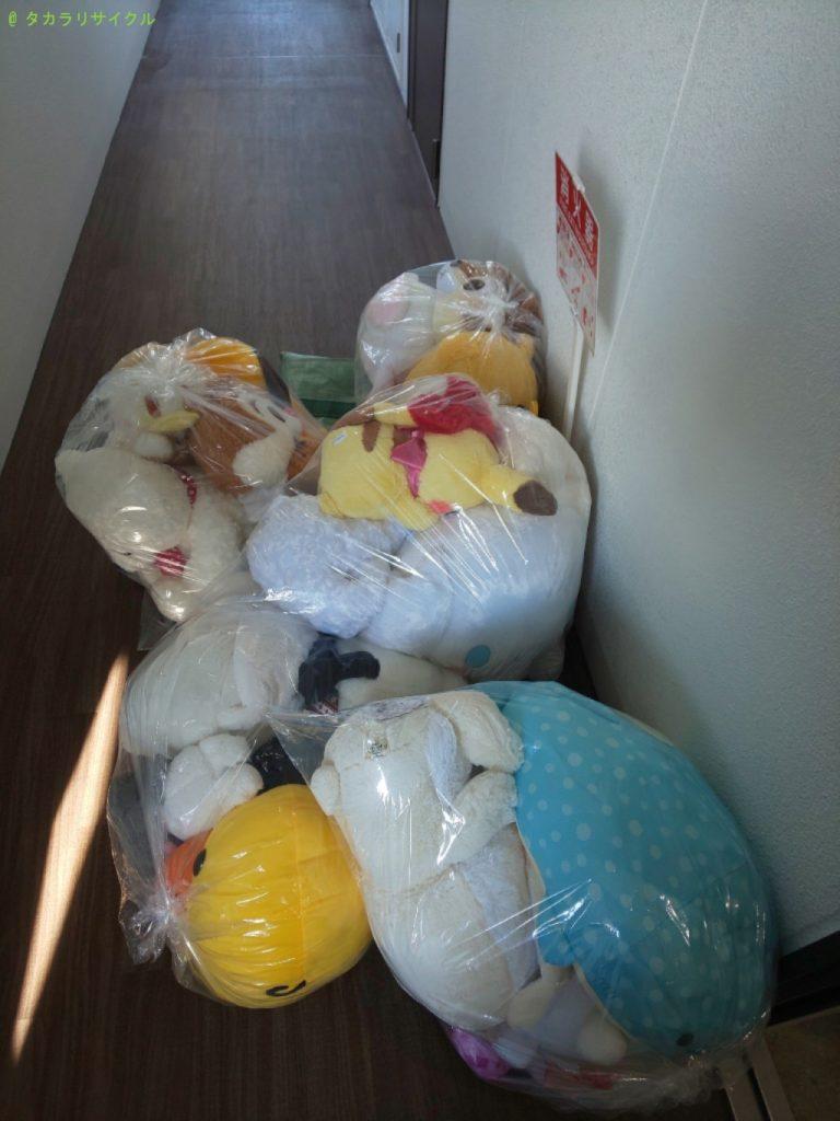 【大阪市生野区巽南】ぬいぐるみの処分・回収のご依頼者さま