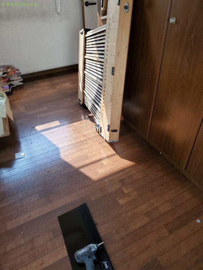 【岡山市南区新保】ベッドフレームの処分・回収のご依頼者さま