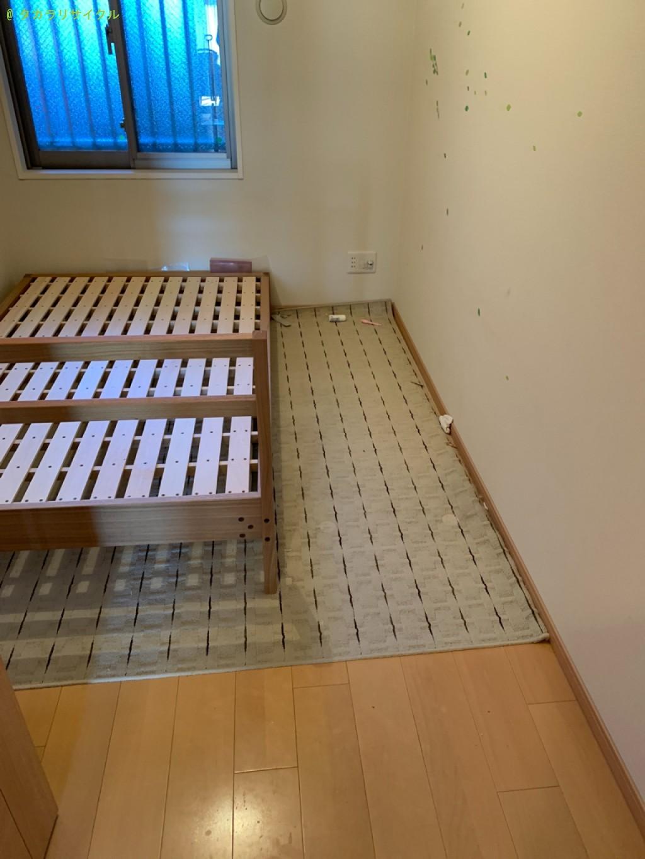 【大津市唐橋町】本棚・デスクほか家具の処分・回収のご依頼者さま