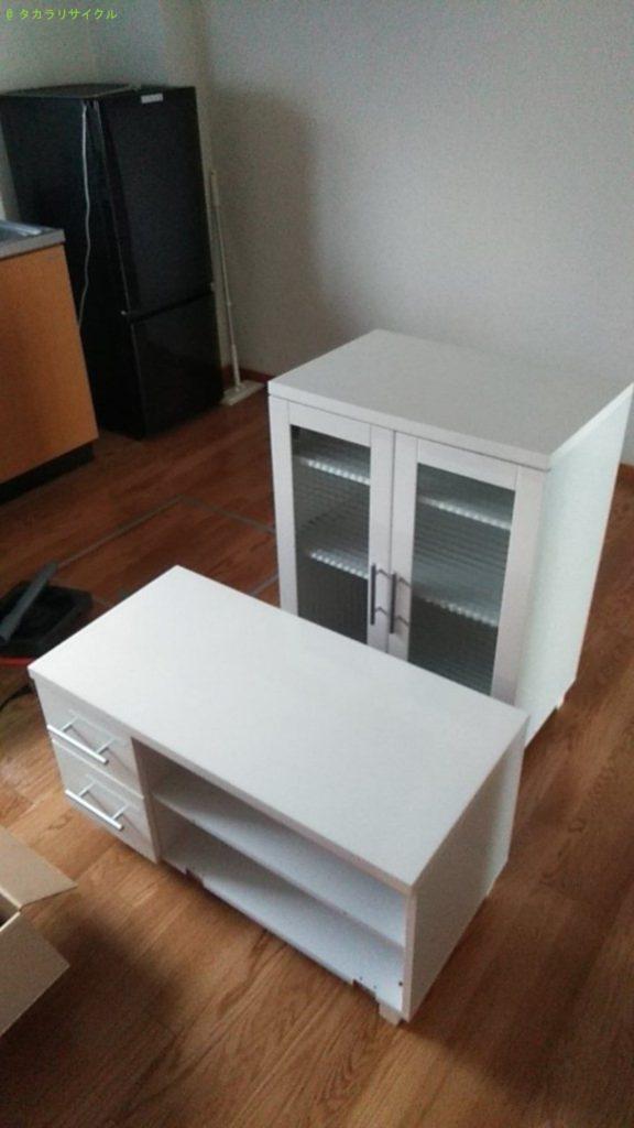 【今治市東村】冷蔵庫・テレビ台・キャビネットの回収のご依頼者さま