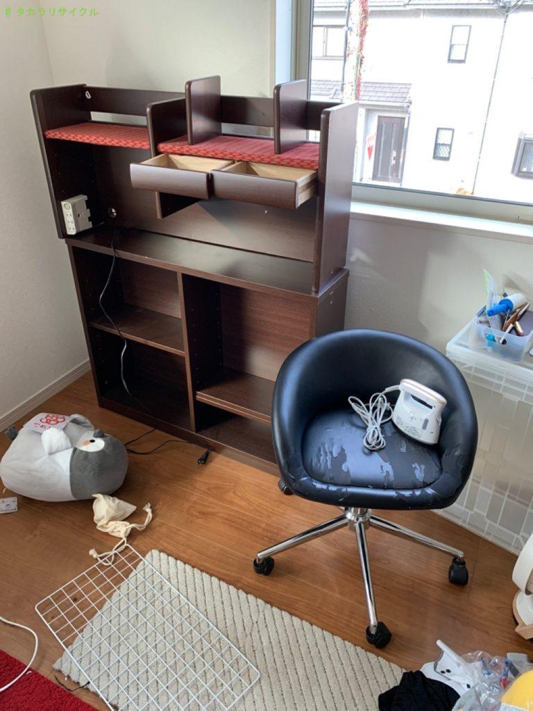 【大津市長等】デスク・チェアほか家具の処分・回収のご依頼者さま